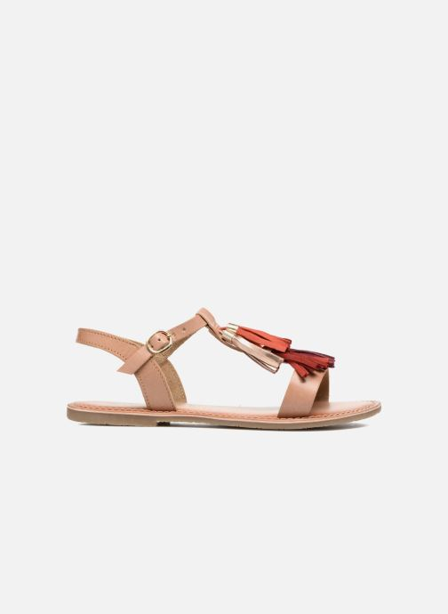 Sandals I Love Shoes KEPOM Leather Brown back view