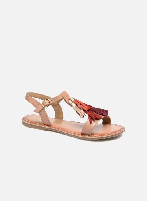 Sandals I Love Shoes KEPOM Leather Brown detailed view/ Pair view