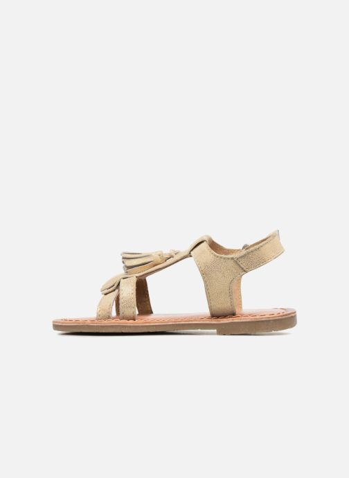 Sandals I Love Shoes KEFRAN Leather Bronze and Gold front view