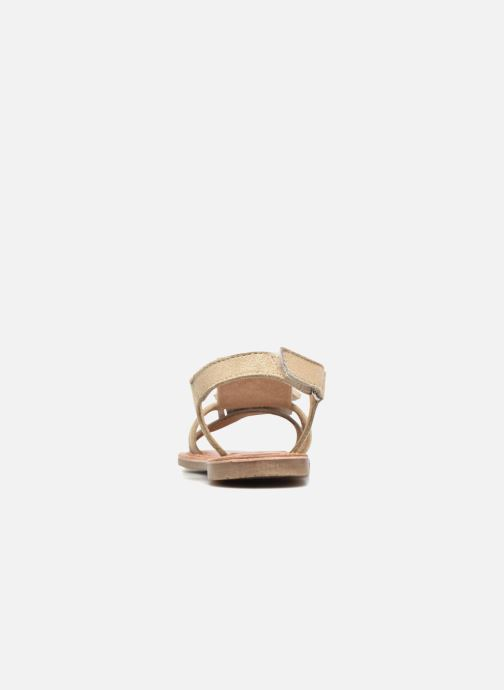 Sandalias I Love Shoes KEFRAN Leather Oro y bronce vista lateral derecha