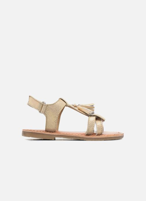 Sandals I Love Shoes KEFRAN Leather Bronze and Gold back view