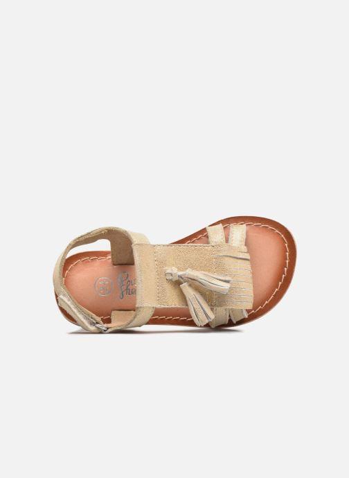Sandalias I Love Shoes KEFRAN Leather Oro y bronce vista lateral izquierda
