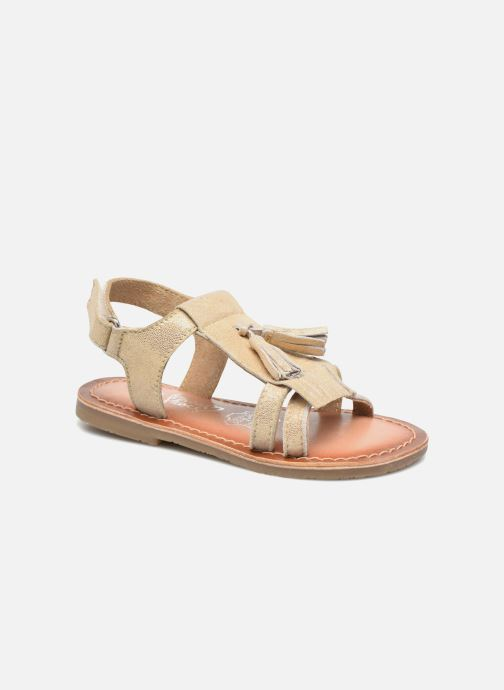 Sandalias I Love Shoes KEFRAN Leather Oro y bronce vista de detalle / par
