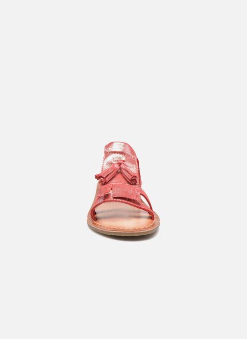 Sandali e scarpe aperte I Love Shoes KEFRAN Leather Rosso modello indossato