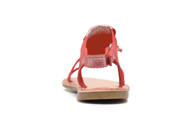 Sandalen I Love Shoes KEFRAN Leather rot ansicht von rechts