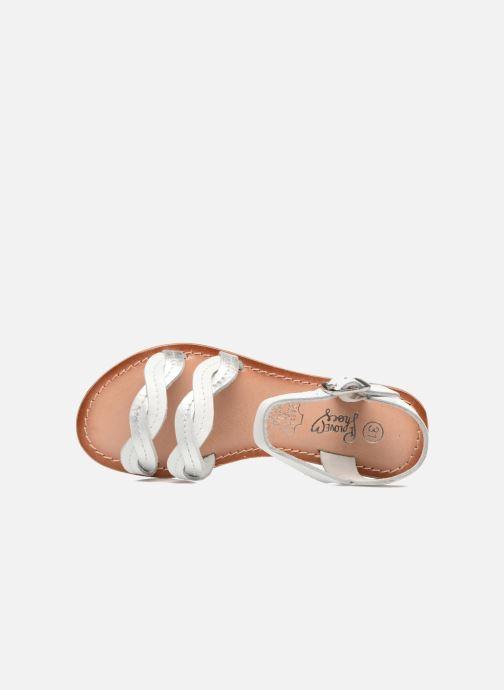 Sandalias I Love Shoes KEWAVY Leather Blanco vista lateral izquierda