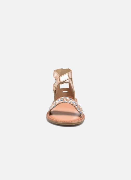 Sandals I Love Shoes KETRUSI Leather Bronze and Gold model view