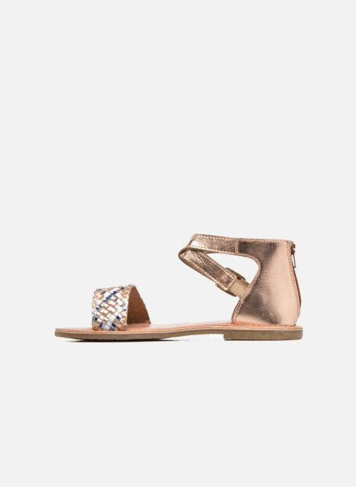 Sandalias I Love Shoes KETRUSI Leather Oro y bronce vista de frente