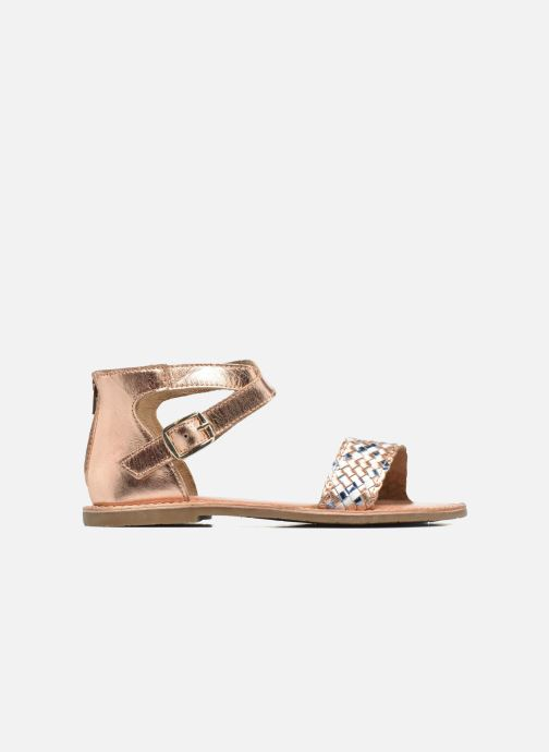 Sandals I Love Shoes KETRUSI Leather Bronze and Gold back view