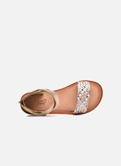 Sandalias I Love Shoes KETRUSI Leather Oro y bronce vista lateral izquierda