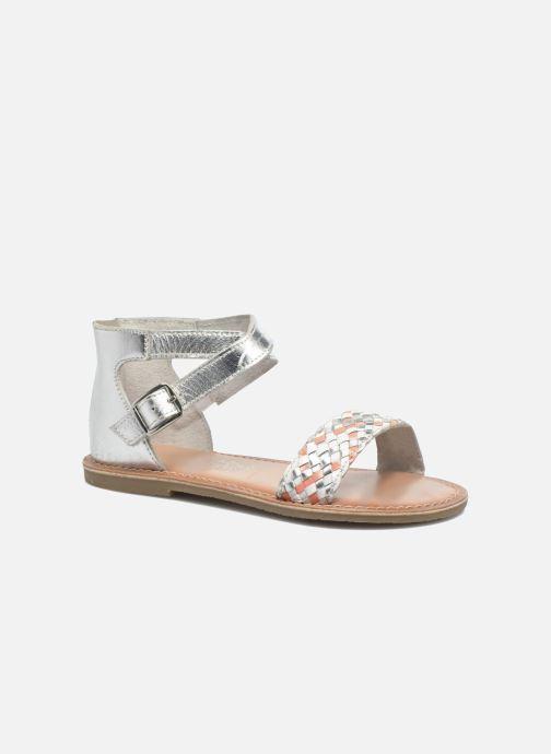 Sandales et nu-pieds I Love Shoes KETRUSI Leather Argent vue détail/paire