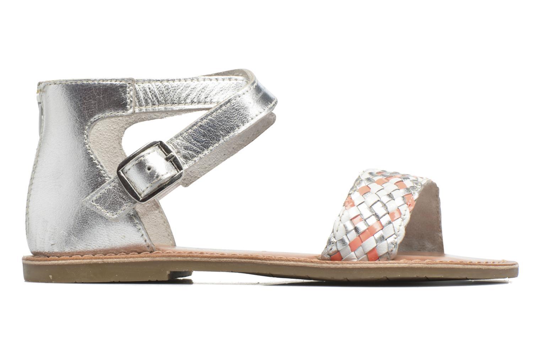 Sandales et nu-pieds I Love Shoes KETRUSI Leather Argent vue derrière
