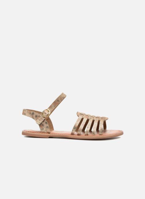 Sandals I Love Shoes KEGLIT Leather Beige back view