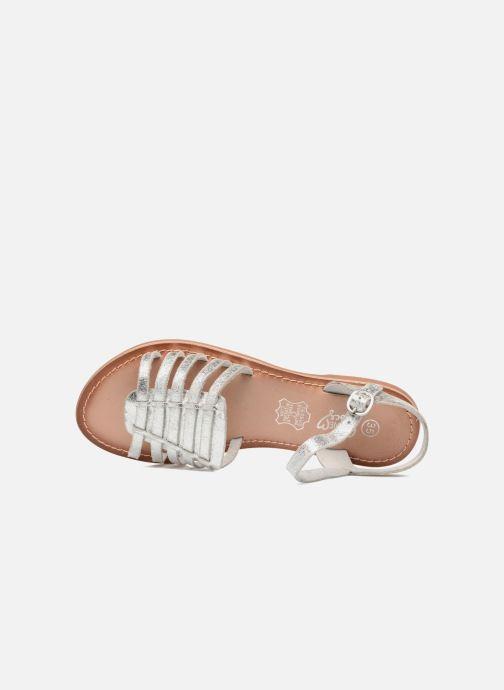Sandalias I Love Shoes KEGLIT Leather Plateado vista lateral izquierda
