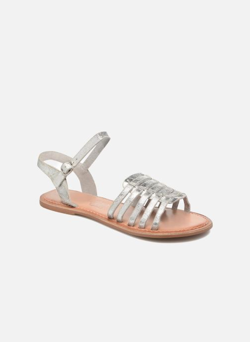 Sandals I Love Shoes KEGLIT Leather Silver detailed view/ Pair view