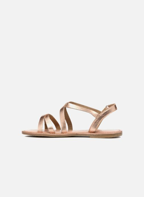 Sandals I Love Shoes KEINU Leather Bronze and Gold front view
