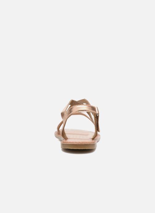 Sandali e scarpe aperte I Love Shoes KEINU Leather Oro e bronzo immagine destra