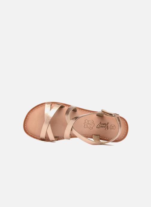 Sandalias I Love Shoes KEINU Leather Oro y bronce vista lateral izquierda