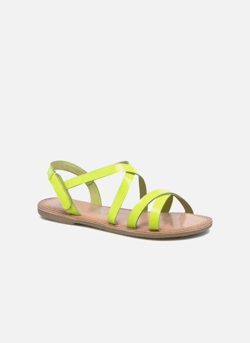 Sandales et nu-pieds I Love Shoes KEINU Leather Jaune vue détail/paire