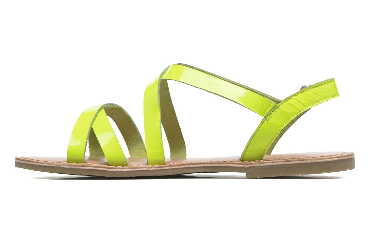 Sandalias I Love Shoes KEINU Leather Amarillo vista de frente