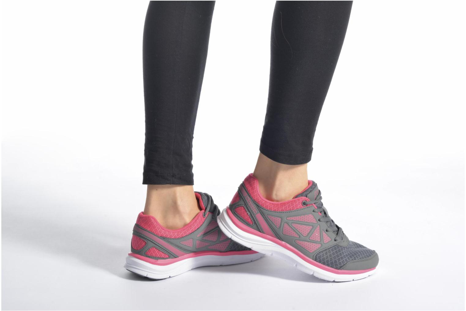 Sport shoes Kappa Fanger PU Mesh W Pink view from underneath / model view