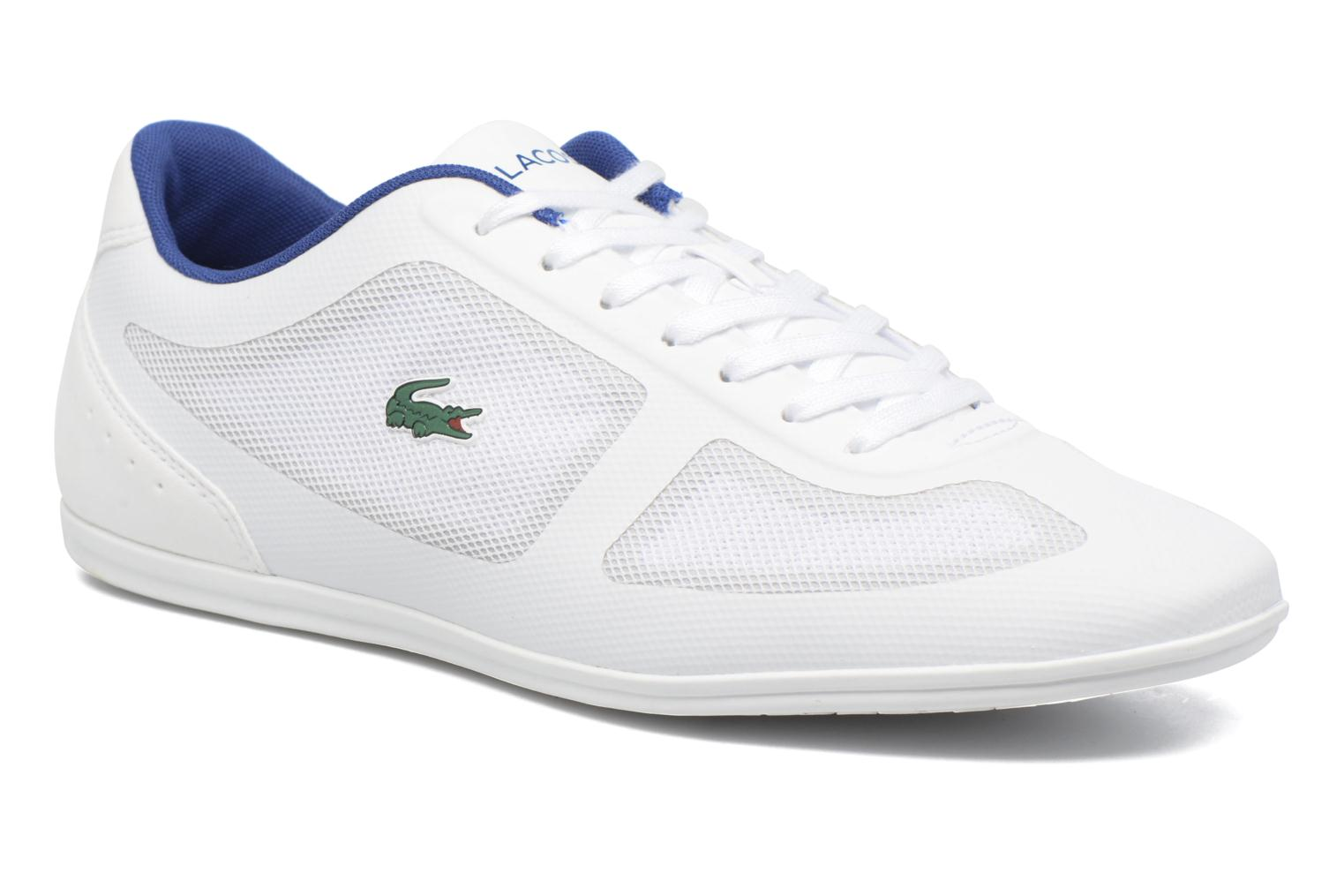 Trainers Lacoste Misano Evo 117 1 White detailed view/ Pair view