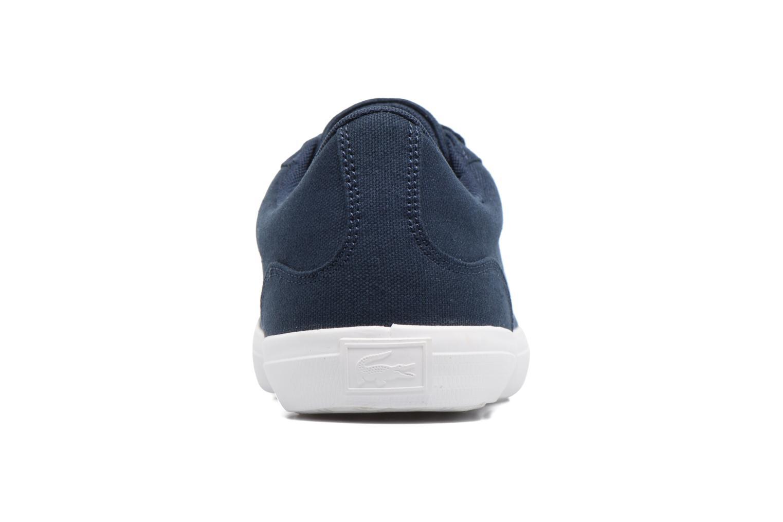 Baskets Lacoste Lerond BL 2 Bleu vue droite