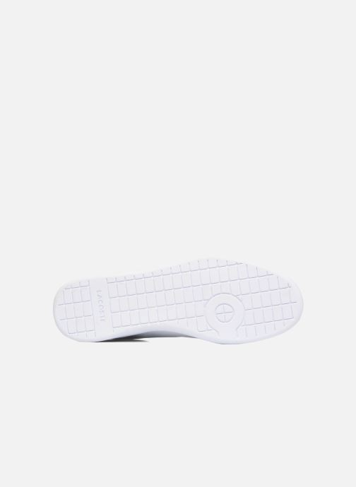 Baskets Lacoste Carnaby Evo BL 1 Blanc vue haut