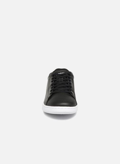Sneaker Lacoste Carnaby Evo BL 1 schwarz schuhe getragen