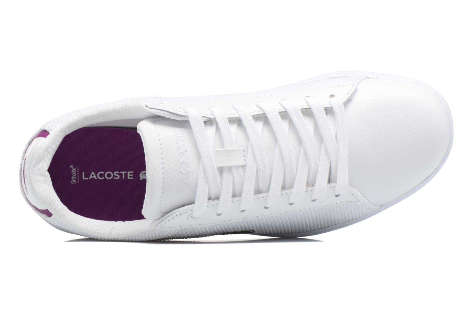 Sneakers Lacoste Carnaby Evo 117 5 Wit links