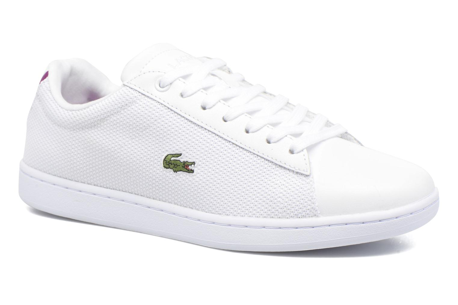 Baskets Lacoste Carnaby Evo 117 5 Blanc vue détail/paire