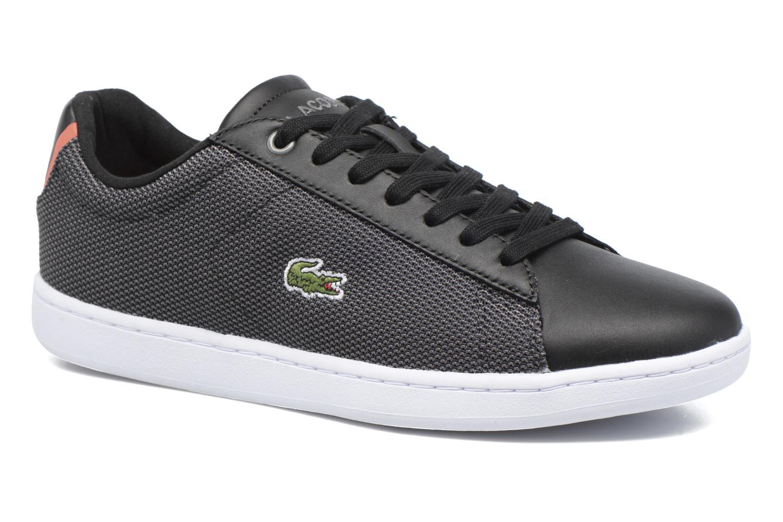 Sneakers Lacoste Carnaby Evo 117 1 Sort detaljeret billede af skoene