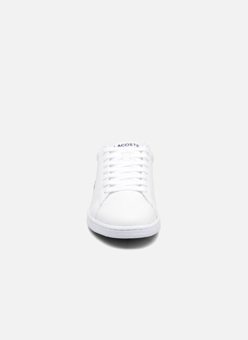 Baskets Lacoste Carnaby Evo BL 1 W Blanc vue portées chaussures