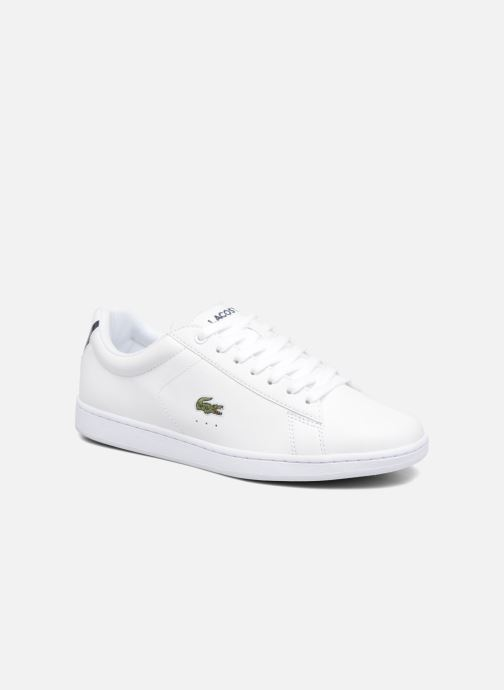 Baskets Lacoste Carnaby Evo BL 1 W Blanc vue détail/paire