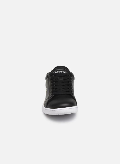 Sneaker Lacoste Carnaby Evo BL 1 W schwarz schuhe getragen