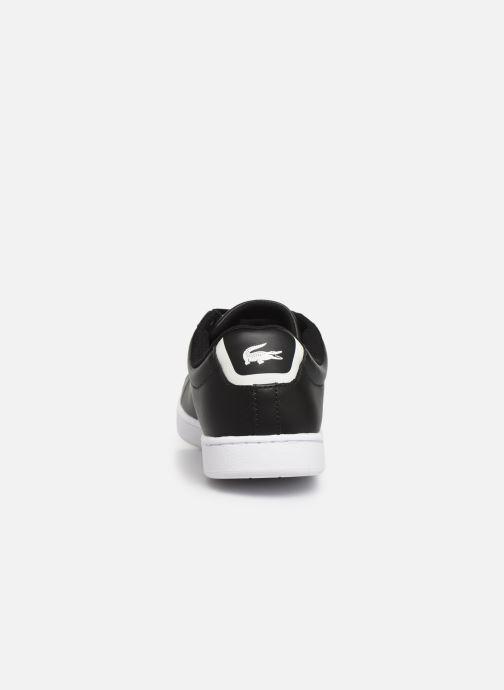 Sneakers Lacoste Carnaby Evo BL 1 W Zwart rechts