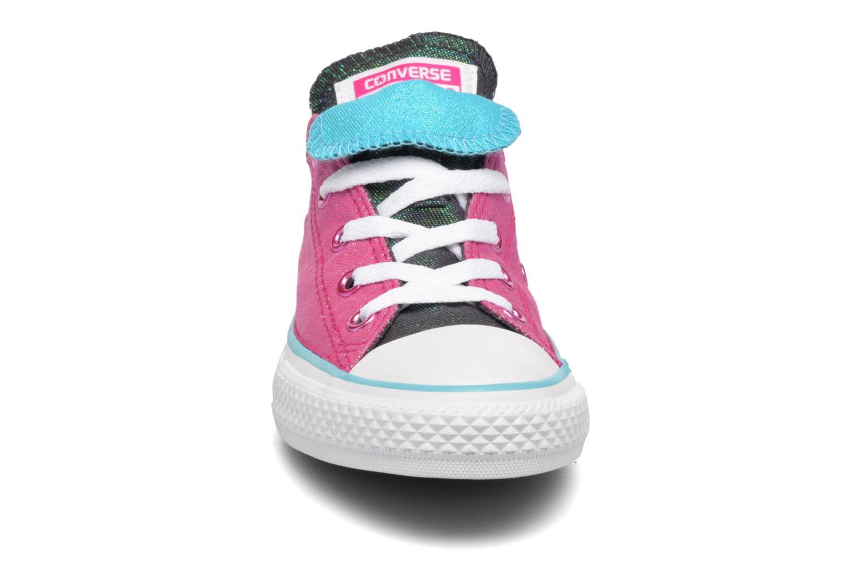 Baskets Converse Chuck Taylor All Star Double Tongue Ox Kid Violet vue portées chaussures