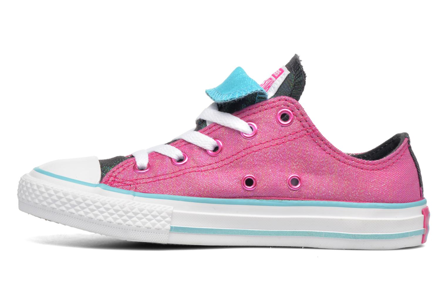Baskets Converse Chuck Taylor All Star Double Tongue Ox Kid Violet vue face