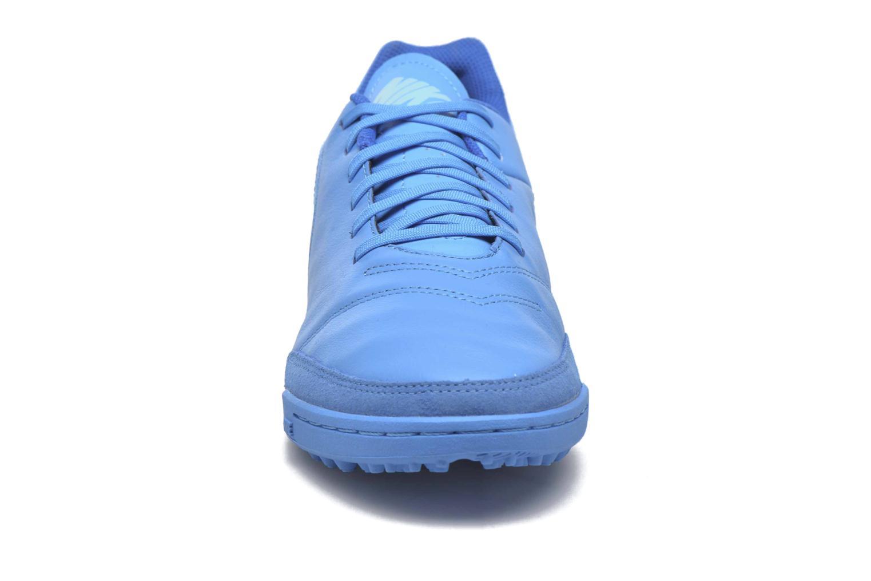 Chaussures de sport Nike Tiempox Genio II Leather Tf Bleu vue portées chaussures