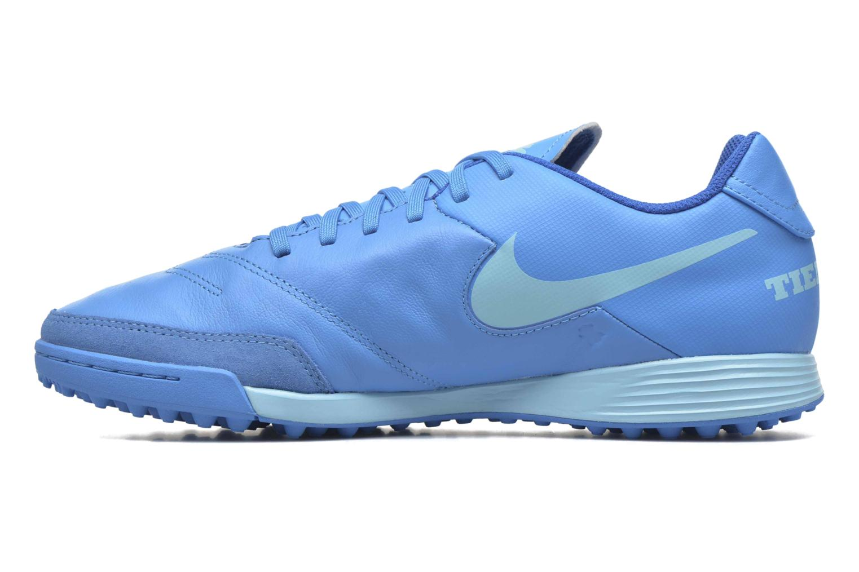 Chaussures de sport Nike Tiempox Genio II Leather Tf Bleu vue face