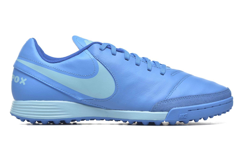 Chaussures de sport Nike Tiempox Genio II Leather Tf Bleu vue derrière