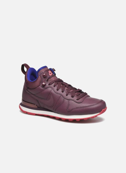 Baskets Nike W Internationalist Mid Lthr Bordeaux vue détail/paire