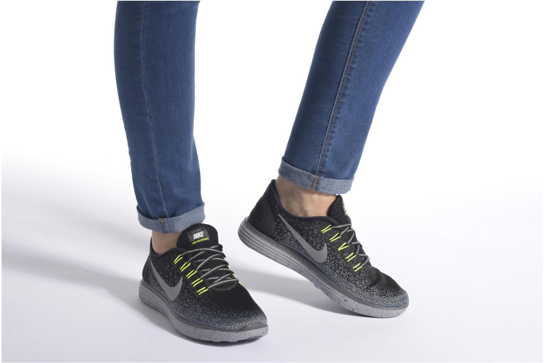 Chaussures de sport Nike W Nike Free Rn Distance Shield Vert vue bas / vue portée sac