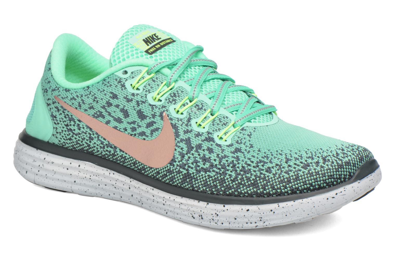 Chaussures de sport Nike W Nike Free Rn Distance Shield Vert vue détail/paire
