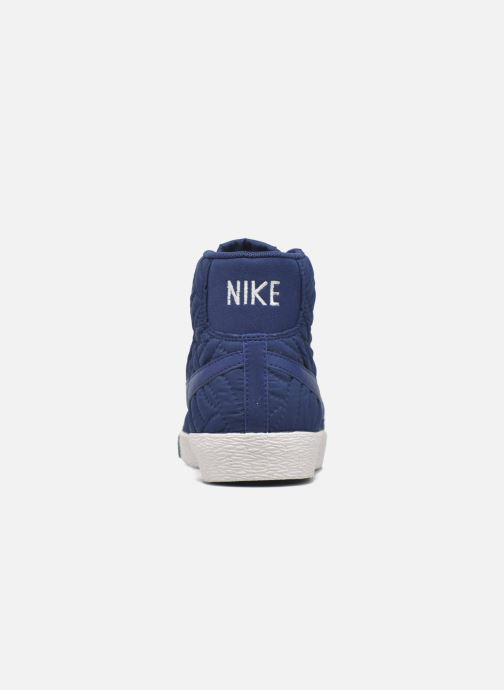 Deportivas Nike Wmns Blazer Mid Prm Se Azul vista lateral derecha
