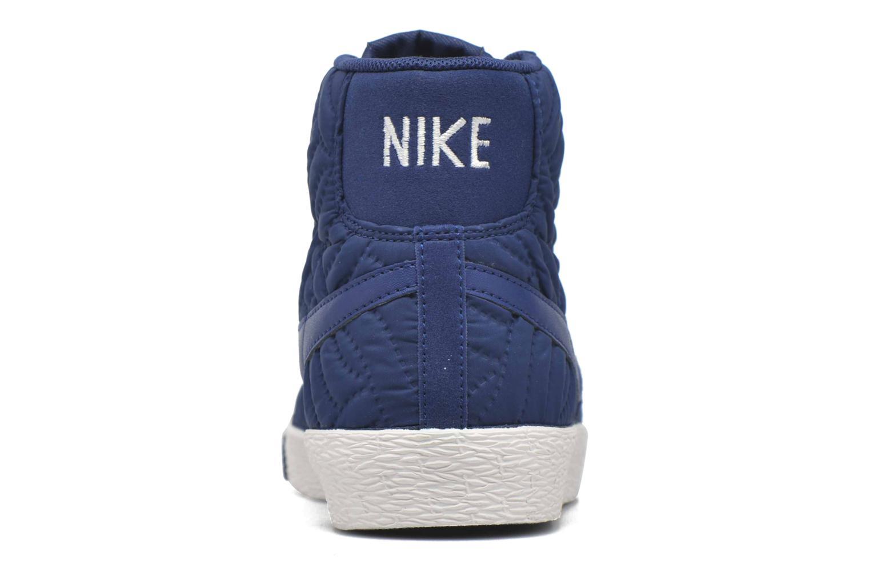 Sneakers Nike Wmns Blazer Mid Prm Se Blå Se fra højre