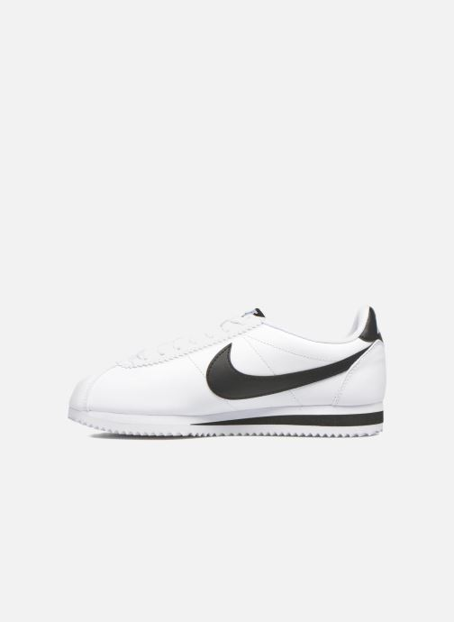 Sneakers Nike Wmns Classic Cortez Leather Bianco immagine frontale