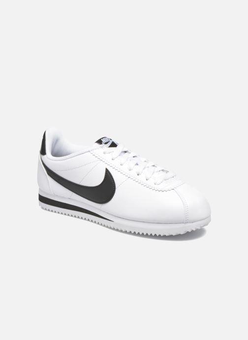 Baskets Nike Wmns Classic Cortez Leather Blanc vue détail/paire