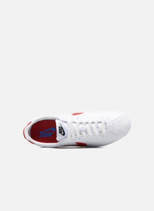 Baskets Nike Wmns Classic Cortez Leather Blanc vue gauche
