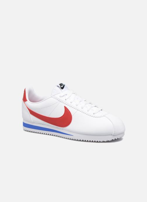 Baskets Nike Wmns Classic Cortez Leather Blanc vue détail/paire
